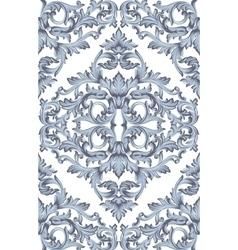 Vintage Baroque damask floral pattern acanthus vector
