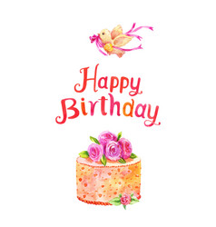 Watercolor Birthday Cake Vector Images Over 290