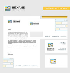 website business letterhead envelope and visiting vector image
