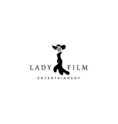 Woman and film reel good design for film logo vector