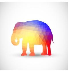 Geometric silhouettes animals Elephant vector image vector image