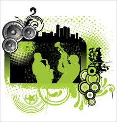 Grunge jazz music background vector image vector image