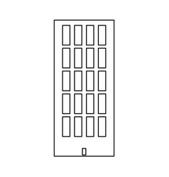Sky tower building black color path icon vector