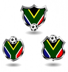 south Africa soccer badges vector image
