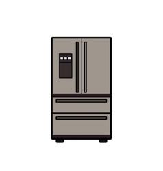 Symbol of fridge color line art icon vector image vector image