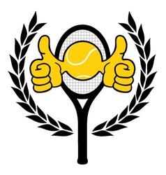 Winner tennis emblem vector image