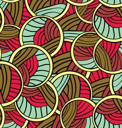 Abstract Lines Endless Seamless Pattern vector image vector image