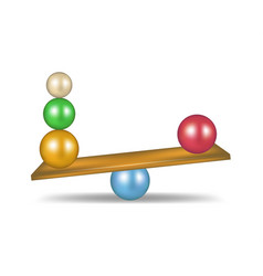 Balanced balls in various colours vector