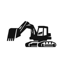 black Excavator vector image vector image