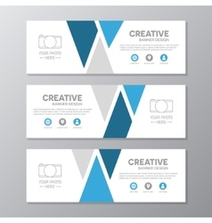 Blue corporate business banner template vector image