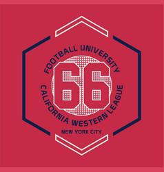football university california vector image