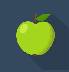 green apple cartoon flat icon dark blue vector image vector image