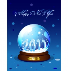 new year 2011 card vector image