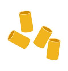 cannelloni pasta raw pasta macaroni cartoon vector image
