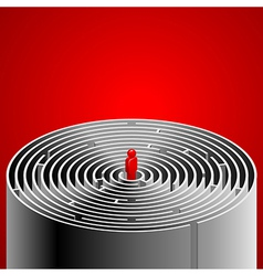 Labyrinth red vector image