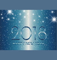 metallic style happy new year background vector image vector image