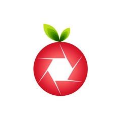 Orange photography logo vector