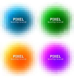 pixel background set vector image vector image