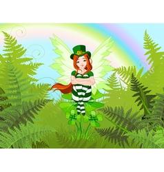 Saint Patricks Fairy vector image