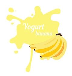 Splash of banana yogurt vector image vector image