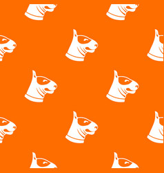 bull terrier dog pattern seamless vector image vector image