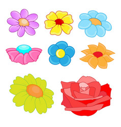 Flowers theme collection vector