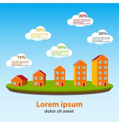 Real estate concept infographics vector