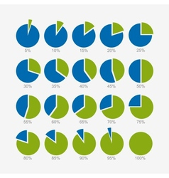 Set of circle diagram infographic design vector image vector image