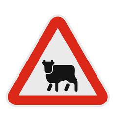 animal icon flat style vector image