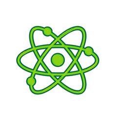 atom sign lemon scribble vector image