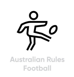 Australian rules football sport icons vector