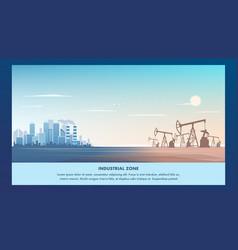 banner industrial zone metropolis vector image