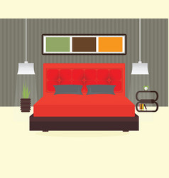 bedroom interior vector image