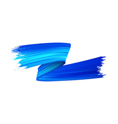 Blue paint brush stroke realistic vector