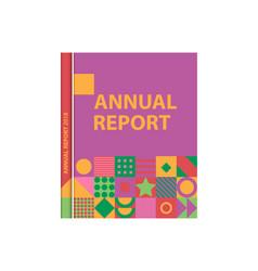 Book cover catalog magazine template for design vector