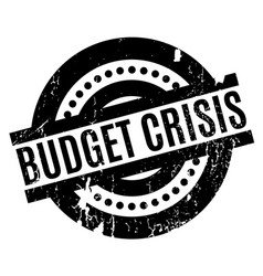 budget crisis rubber stamp vector image
