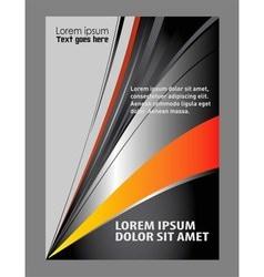 business brochure flyer template vector image