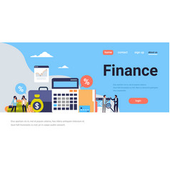 Business people graph finance analysis calculator vector