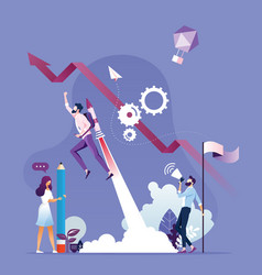 businessman growth and start up vector image