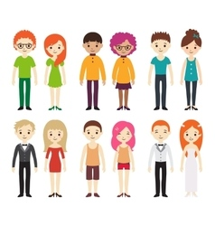 collection different men and women vector image