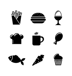 Collection of food icons vector