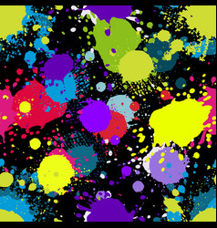 colored abstract seamless pattern in graffiti vector image
