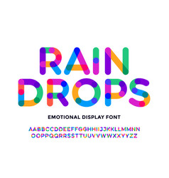 Colorful font colorful bright alphabet and font vector