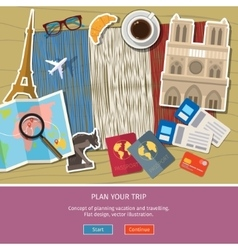 Concept travel or studying french vector