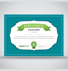 Creative neat blue framed certificate vector
