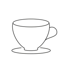 cup for tea icon vector image