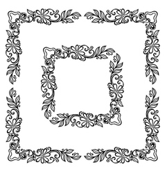 Decorative Floral Frame Ornament vector image