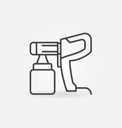 Electric paint sprayer concept linear icon vector