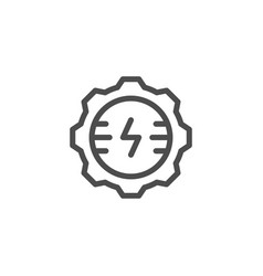 Electrical engineering line icon vector