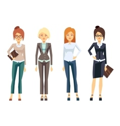 European businesswoman clothes young female vector image